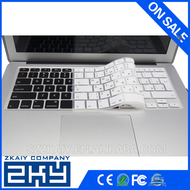Colorful EU Euro US version russian keyboard cover for macbook silicone computer keyboard protector