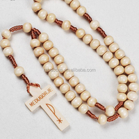 Rebaccas High Quality and Cheap YIWU Catholic Items Custom Wooden Cross Necklace