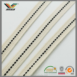 Factory price stripes binding tape cotton umbilical tape upholstery tape