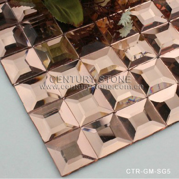 5 Facets Rose Gold Diamond Crystal Glass Mirror Mosaic Tile Buy Crystal Glass Mosaic Diamond Series Glass Mosaic Mosaic Black And White Pattern Product On Alibaba Com