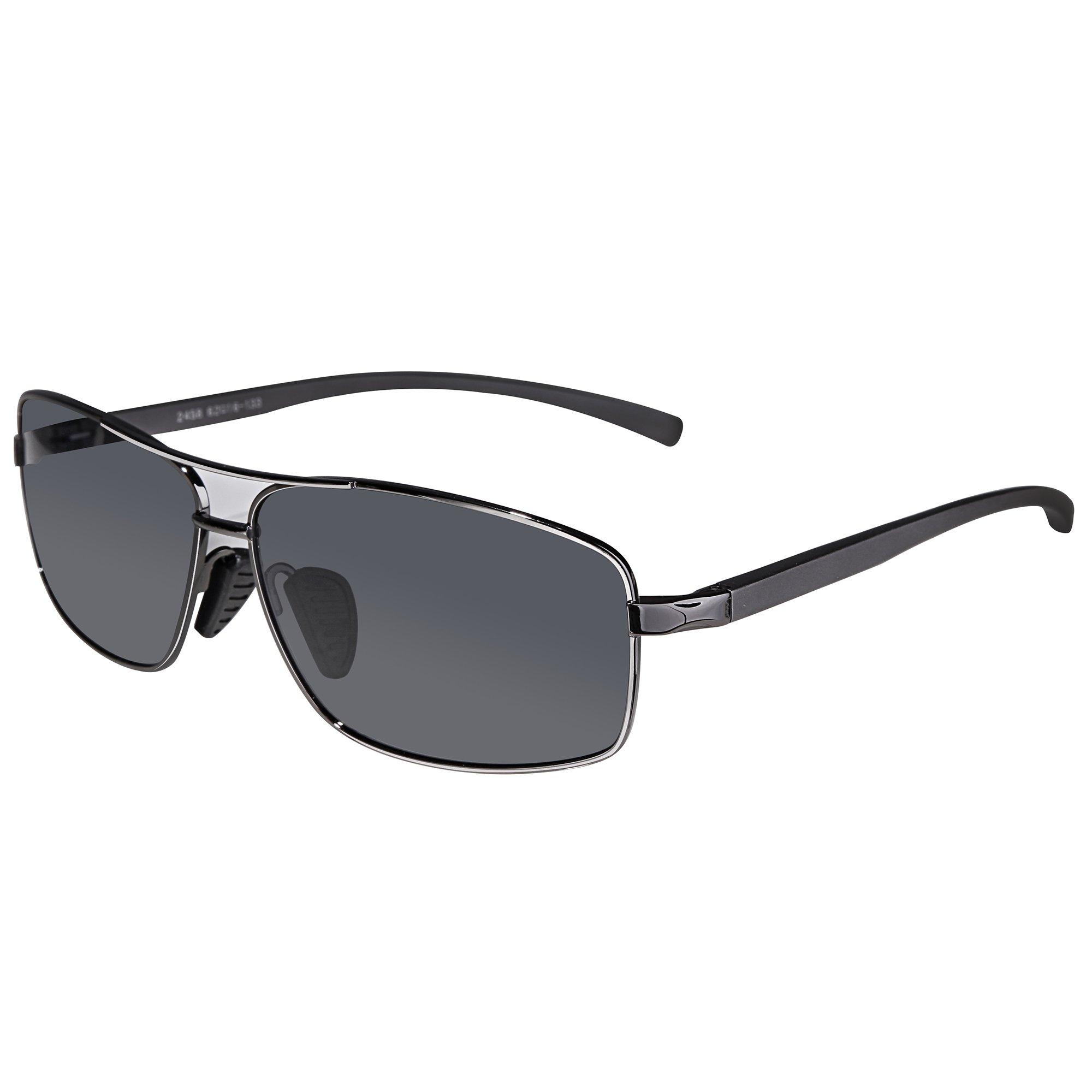 35357e103abf Get Quotations · SUNGAIT Ultra Lightweight Rectangular Polarized Sunglasses  100% UV protection