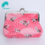 Promotional custom microfiber coin purse with metal silver clip