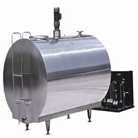 2018 Milk Stainless Steel Mixing Cooling Tank Factory On Sale