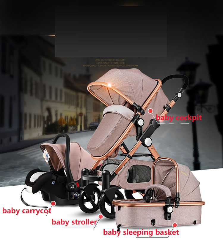 Alibaba china factory wholesale cheap price folding stroller baby trolley 3 in 1