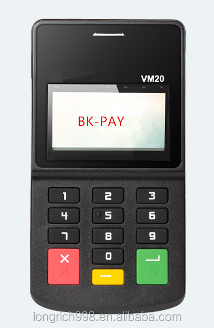 new mPOS machine pinpad smart card reader with Bluetooth, Visa & Master Certificate