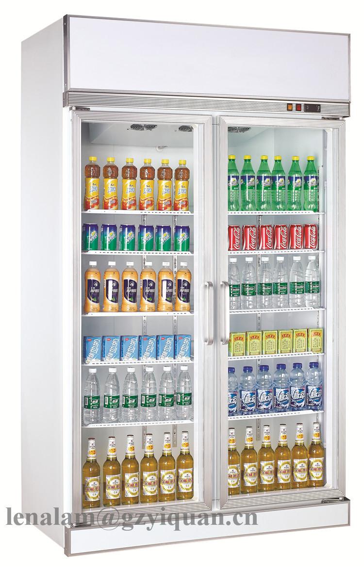 Supermarkt Doppeltüren Glas-display Kühlschrank,Getränke Aufrecht ...