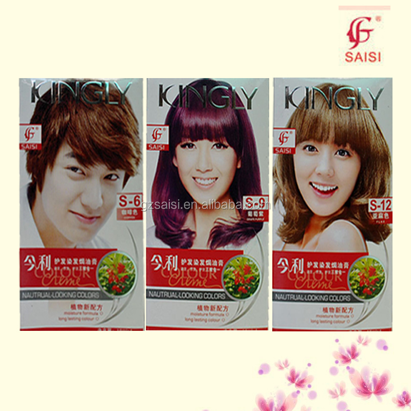 500ml 2 Kingly Coffee Brown Hair Color Permanent Hair Dye For Men