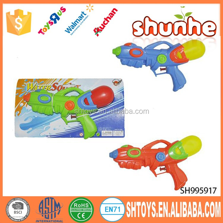 Funny kid summer play water gun
