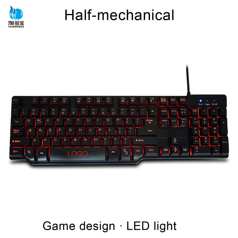 Factory RGB 104 Keys LED Backlight Floating Gaming Keyboard
