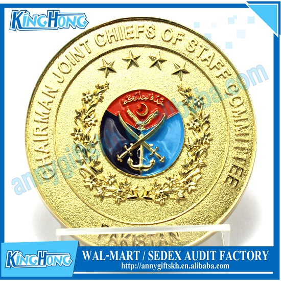 Custom Gold Military challenge coin/memorial Coinage