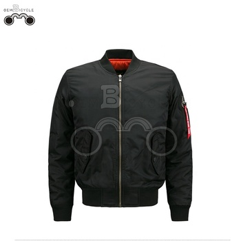 Black custom windbreaker man winter jacket