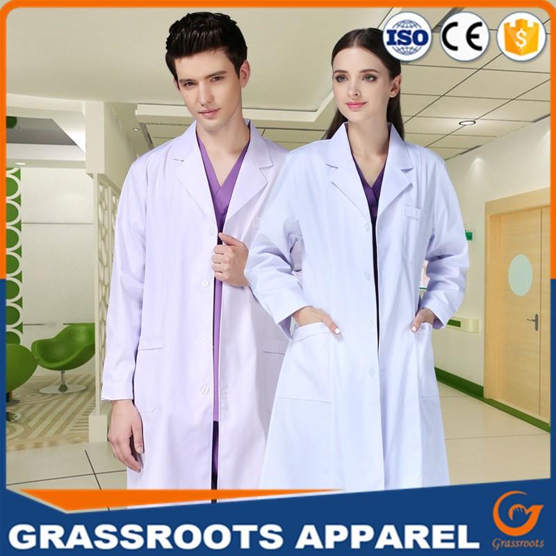 White Coat Doctor Dress Long Sleeve Femme Slim Nurse Shirt Winter ...