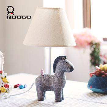 roogo new design bed lamp resin animal zebra table lamp for asle