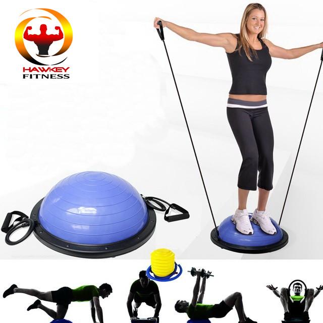 Bosu Ball Air Pump: Exercise Balance Yoga Bosu Ball With Foot Pump