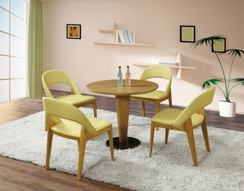 Sanlang Furniture Cafe Shop Used Wooden Cushion Chair Coffee Table