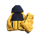 Hot sale baby yellow boutique clothes sets clothing infant hoodies kids clothes