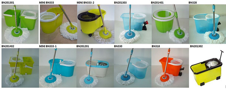 Transparent color pedal magic mop magic spin mop