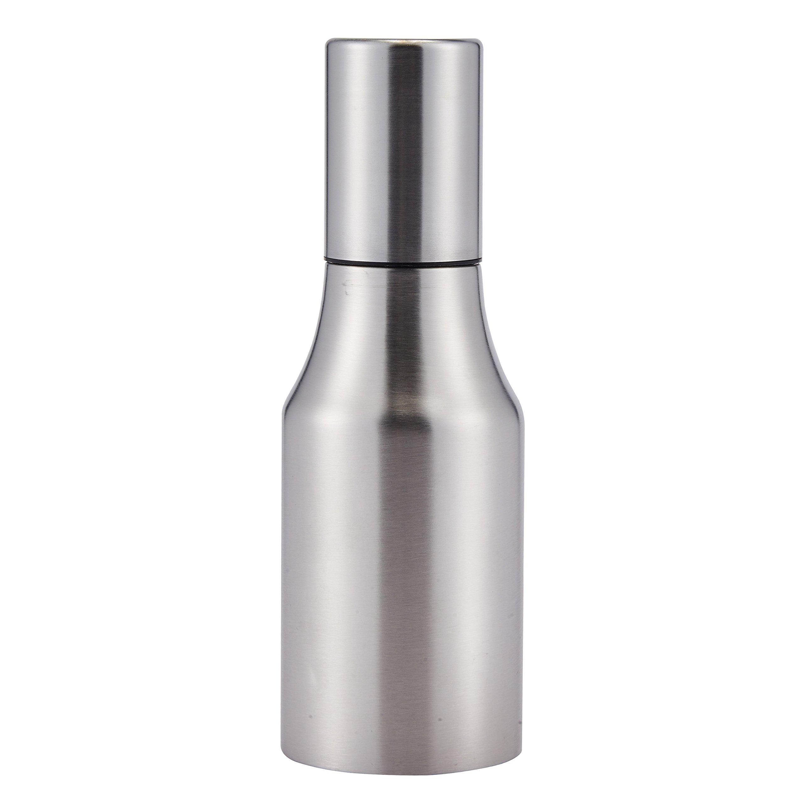 Stainless Steel Olive Oil Vinegar Dispenser Leak-proof Sauce Cruet Edible Oil Bottle Container Pot with Precise Pouring Spout 17oz/500ML