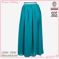 Lady/Girls Top Fashion Casual Dairy Wear High Wave Bohemian Maxi Skirt With Leather Belt