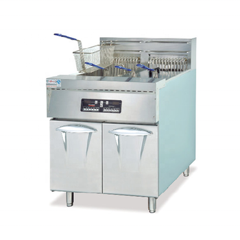 Free Standing Industrial Kitchen Equipment Chips Donuts Electric Commercial Chicken Frying Machine Pressure Deep Fryer
