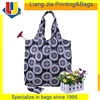 Black And White Printing Folding Nylon Eco Tote Bag For Shopping And Traveling