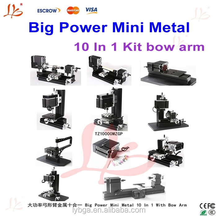 Cheap School teaching of mini cnc lathe TZ10000MZGP, mini cnc machining parts with bow arm