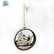 New holiday time christmas decorations handmade wood decoration car hanging ornament