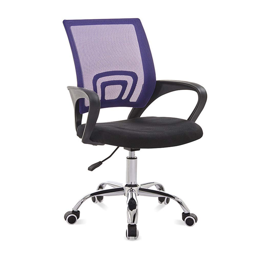 QFFL jiaozhengyi Swivel Chair, Office Computer Chair Rotating Lift Boss Chair Home Backrest Swivel Chair (Color : Purple)