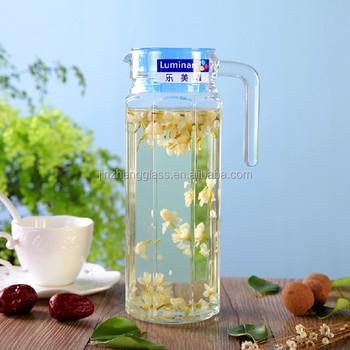 05 L Liter Glas Kühlschrank Weißen Deckel Wasser Squash Saft Milch