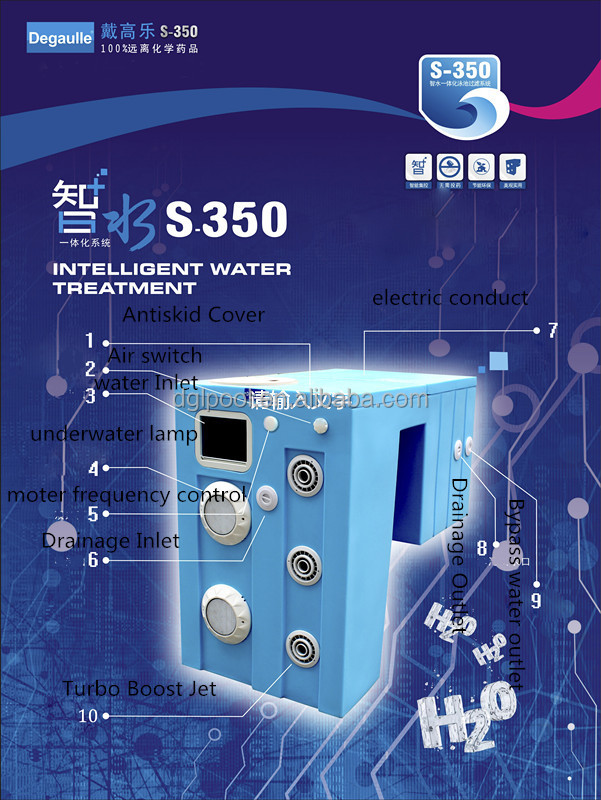 Degaulle salt water pool system/Water Filters S350/pool filter equipment in china