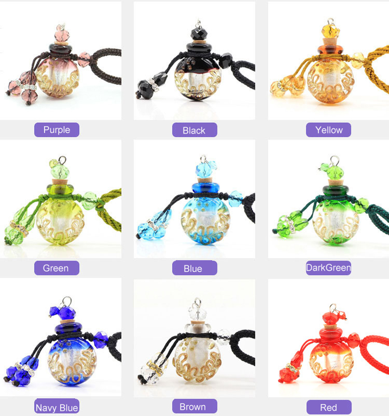 Wholesale glass perfume bottle pendants for jewelry making