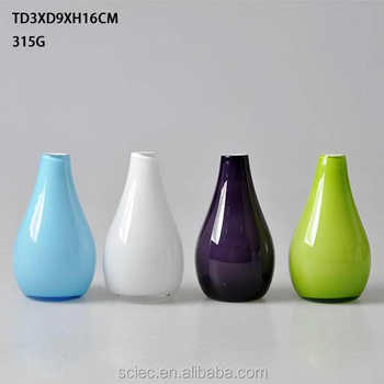 Good Sell Different Color Glass Flower Vase Glass Vase Colored Vases