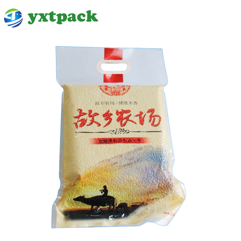 Factory price white flour rice 25kg food packing plastic bags for sale with handle