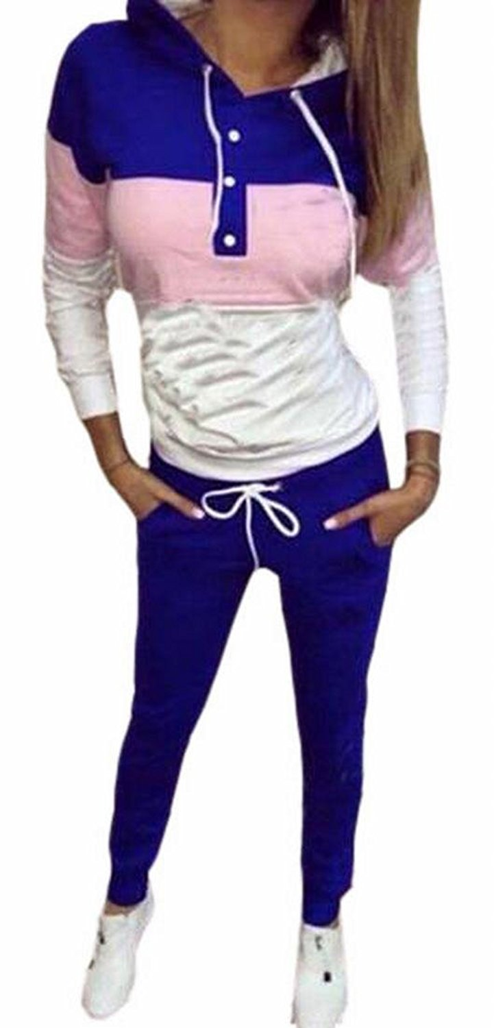 Cromoncent Girl Casual Pullover Hooded Pants Ear Two Piece Sets Sweatshirts Pink Red 2T