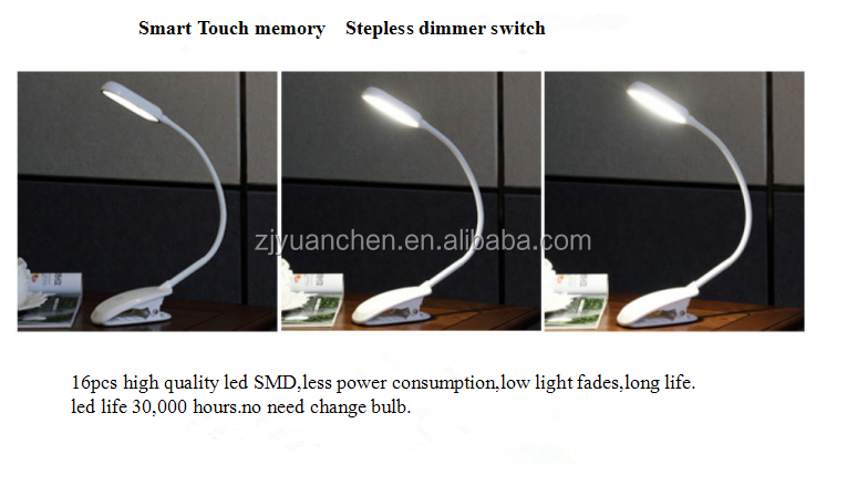 led clip flexible led bedside lamp eye protection reading light