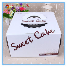 White Corrugated Paper Decorative Cake Packaging Box, birthday cake box