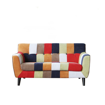 Retro Living Room Fabric Patchwork Sofa Product On Alibaba