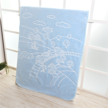 d8088fc1f69a Solid Color 100% Polyester Embossed Baby Blanket Whole Sale ...