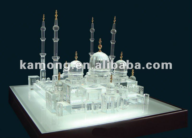 exquisite crystal building model,whosale crystal building gift