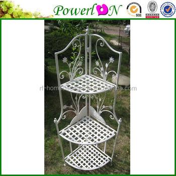 Classical Outdoor Metal Vintage Wrought Iron 3 Tier Corner Garden Shelf For  Home Decoration Patio Ts05 G00 C00 X00 Pl08 4907   Buy Garden Shelf,Metal  ...