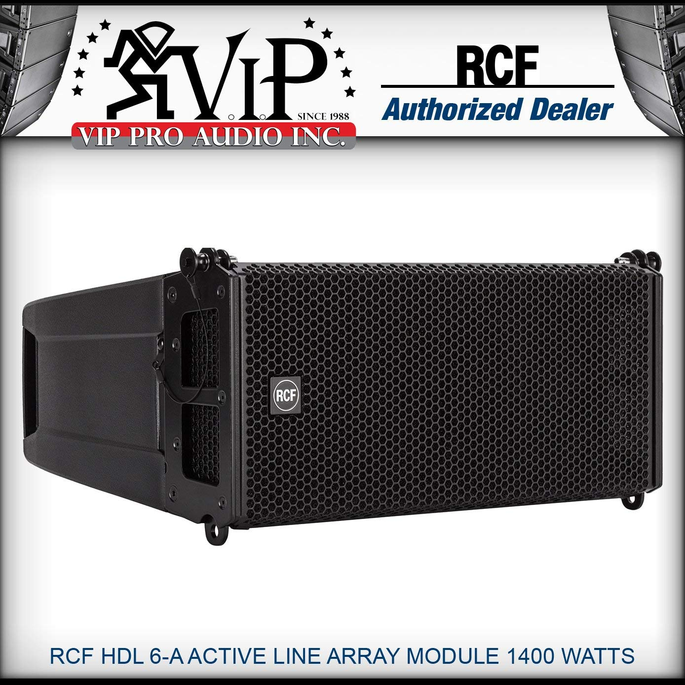 """RCF HDL 6-A Active Line Array Module 2x6"""" 1400 Watt Two-Way Powered Speaker"""