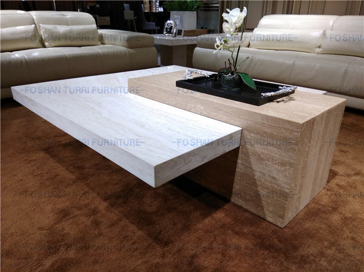 New Design Fashion Coffee Table Long Marble Table