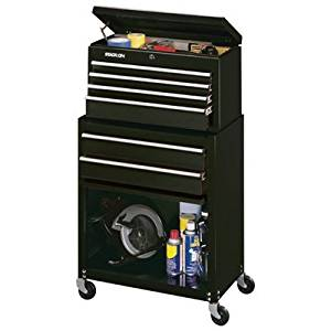 Stack-On SCBLK-600 6-Drawer Chest/Cabinet Combo, Black