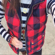 Mode Op Voorraad Red & Black Buffalo Plaid <span class=keywords><strong>Puffer</strong></span> <span class=keywords><strong>Vest</strong></span>