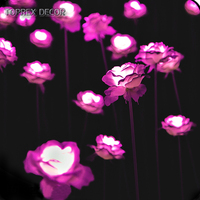 Wedding decorations party led silk flowers artificial