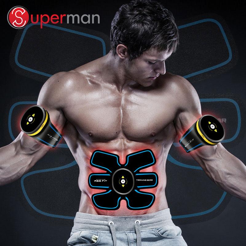 Hot-selling Elektrische EMS Buikspier Toner Vibrator Trainer Ab Stimulatie Massager Apparaat Machine