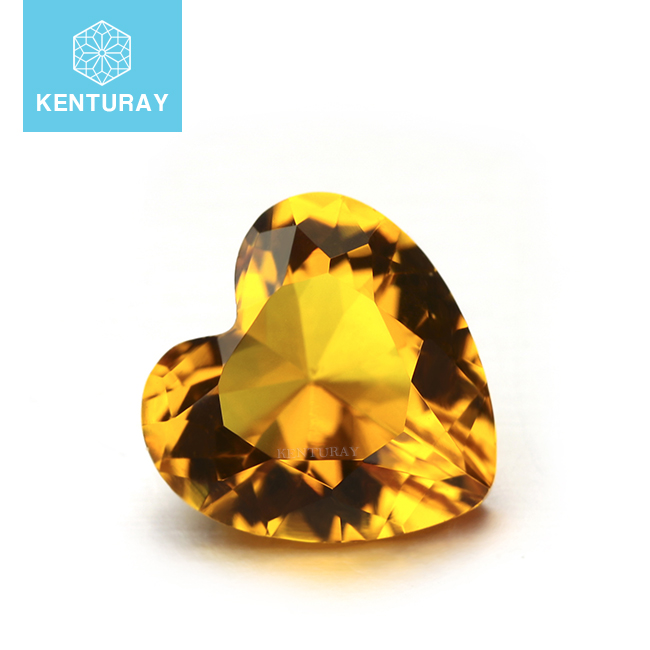 High Quality China Glass Gems Yellow Topaz Gemstone