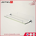 High quality single tier glass shelf JBS1BAC-GS61200 stainless steel 304 bathroom shelf