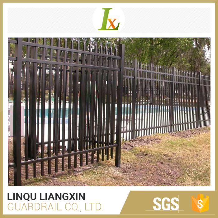 Black aluminum fence child safety pool cheap