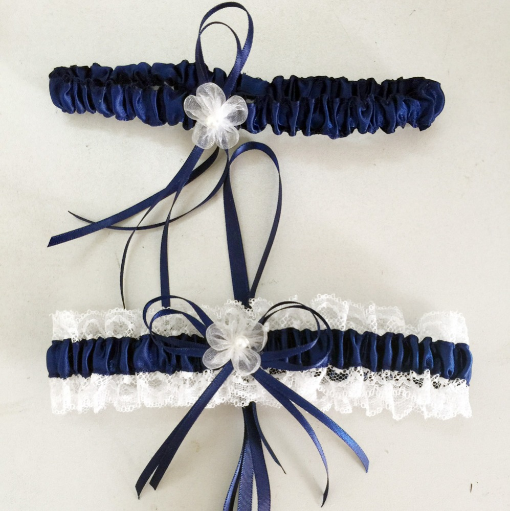 f82eda9ca56 Bridal lace garter with flowers faddish bridal garter belt toss sets  wedding rhinestone garter